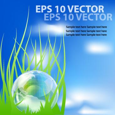 bright templates nature elements vector