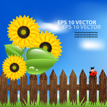 bright templates nature elements vector