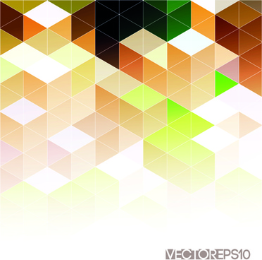 bright triangles pattern vector background