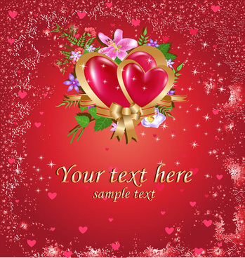 bright valentine day card background vector