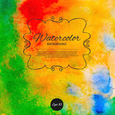 bright watercolor background graphics vector