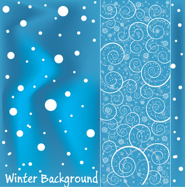 bright winter snow backgrounds art vector