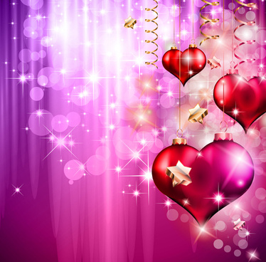brilliant background with heart pendant vector