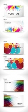 brilliant business card templates vector