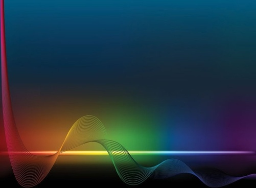 brilliant color dynamic flow line 01 vector