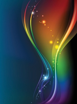 brilliant color dynamic flow line 03 vector