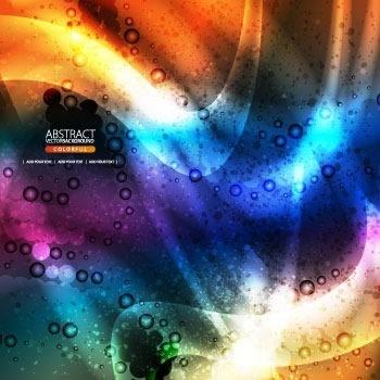 brilliant color dynamic flow line gorgeous glow flow vector