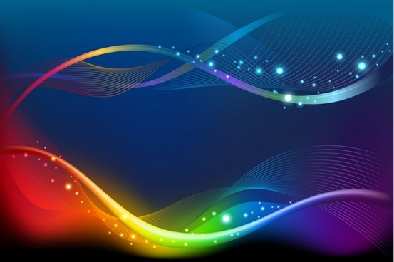 decorative background modern colorful dynamic waving lines