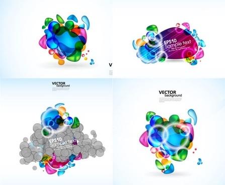brilliant color elements vector