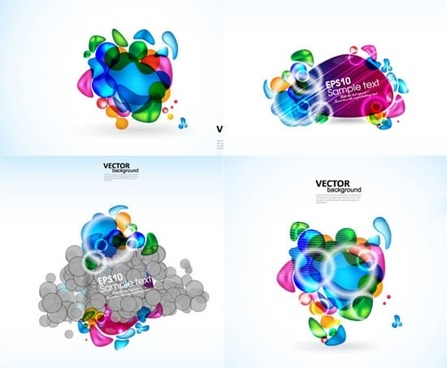 decor elements modern colorful abstract shapes