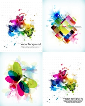 brilliant color pattern vector