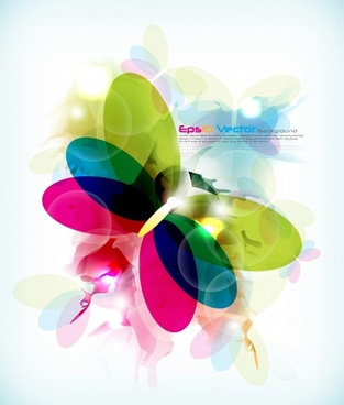 butterfly background colorful blurred transparent decor