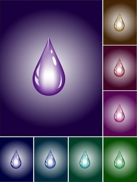 droplet background modern shiny colored design