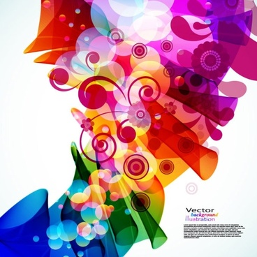brilliant colorful loop pattern 02 vector