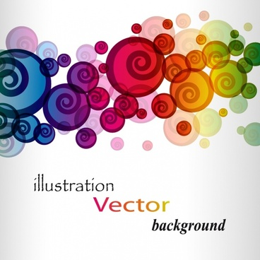 decorative background colorful blurred spiral shapes decor