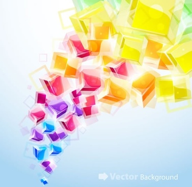 cubic background colorful dynamic 3d blurred decor