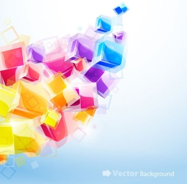 cubic background colorful 3d design floating modern sketch