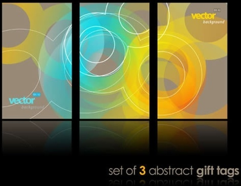 decorative background templates modern colorful blurred circles shapes