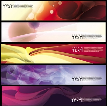 decorative banner templates modern colorful dynamic abstract design