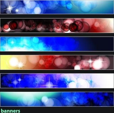 brilliant dynamic banners 08 vector