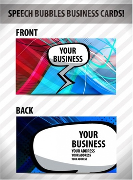 brilliant dynamic business card template 03 vector