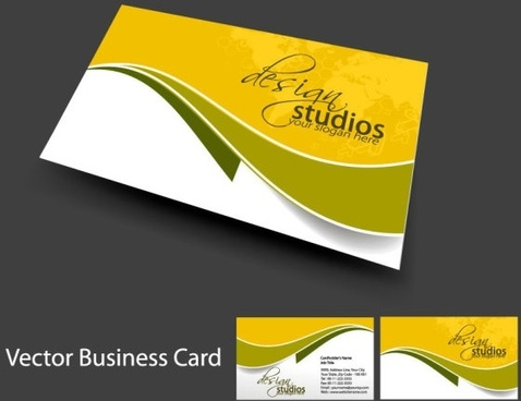 Business card free vector download 22595 free vector for brilliant dynamic business card template 05 vector reheart