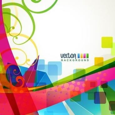 brilliant dynamic design background template vector 4