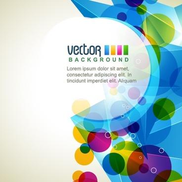 technology background modern colorful geometric decor