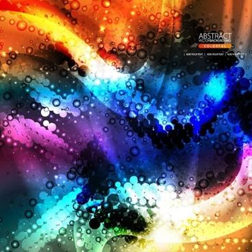 brilliant dynamic flow gorgeous bright color glow vector