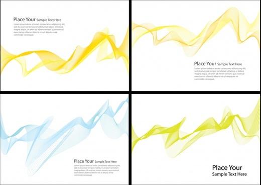 brilliant dynamic flow line business card vector