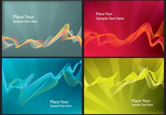brilliant dynamic flow line card 02 vector