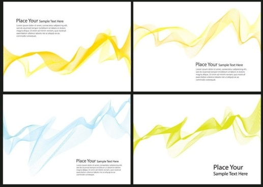 brilliant dynamic flow line card 04 vector