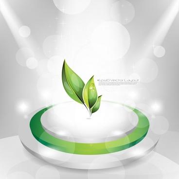 brilliant dynamic green background vector