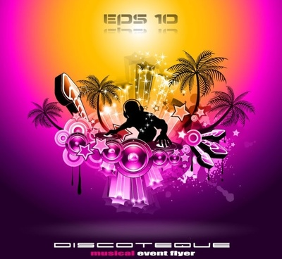 brilliant dynamic musical elements 02 vector