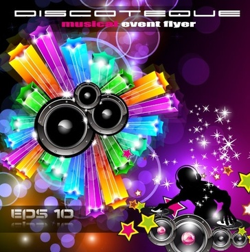brilliant dynamic musical elements 05 vector