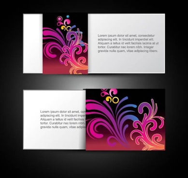 brilliant dynamic pattern card 04 vector