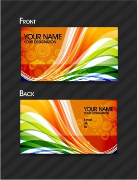 brilliant dynamic pattern cards 01 vector