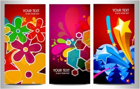 decorative background templates colorful floral geometric stars decor