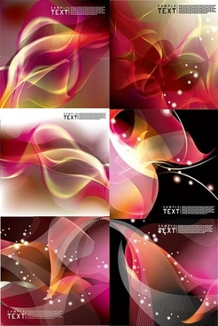decorative background templates modern sparkling dynamic decor
