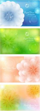 brilliant flowers background vector