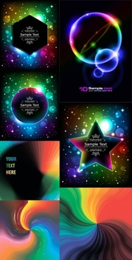brilliant glow color effects vector