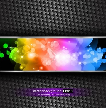 technology background metal surface colorful bokeh light effect