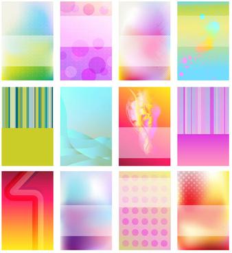 brilliant halation card background vector