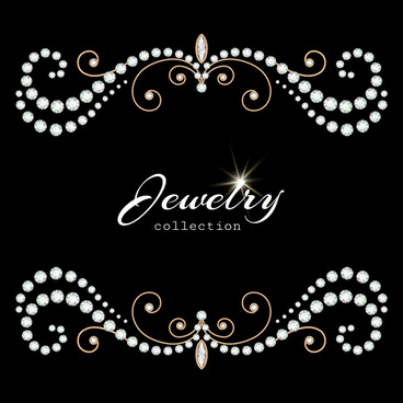 brilliant jewelry art backgrounds vector set