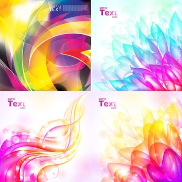 decorative background templates colorful twinkling motion decor