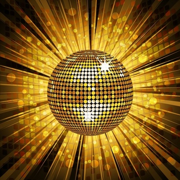 disco ball background twinkling golden dynamic design
