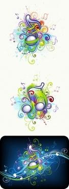 brilliant music background pattern 01 vector