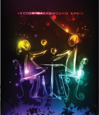 brilliant neon background 01 vector