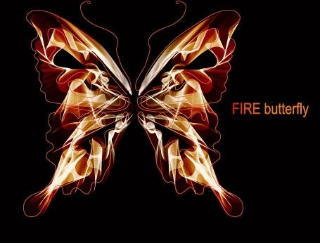 fire butterfly background modern sparkling dark decor