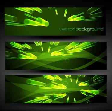 technology background templates dynamic green light effect 3d